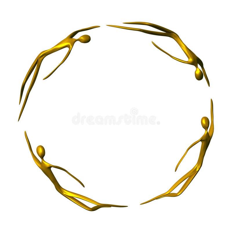 Frame dourado do indivíduo ilustração royalty free