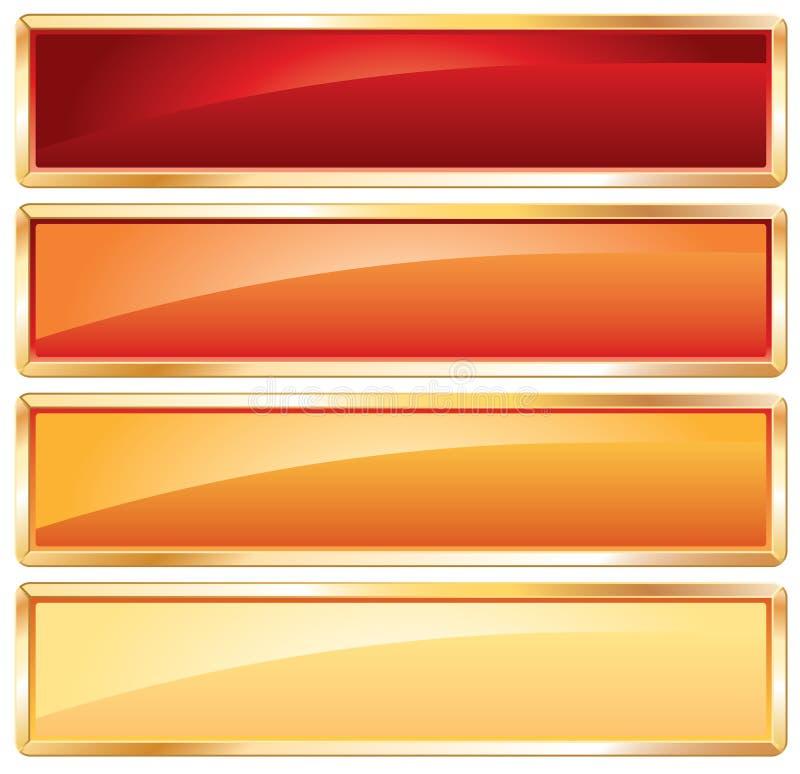Frame dourado quente ilustração do vetor