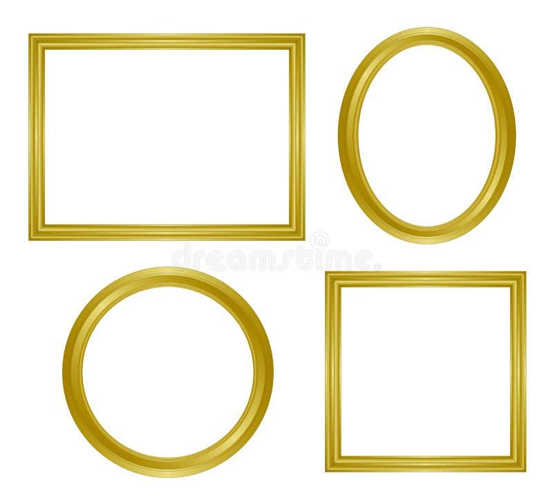Frame dourado simples ilustração do vetor