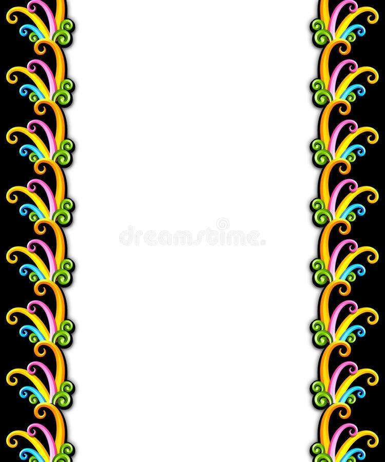 Frame dramático do art deco ilustração royalty free