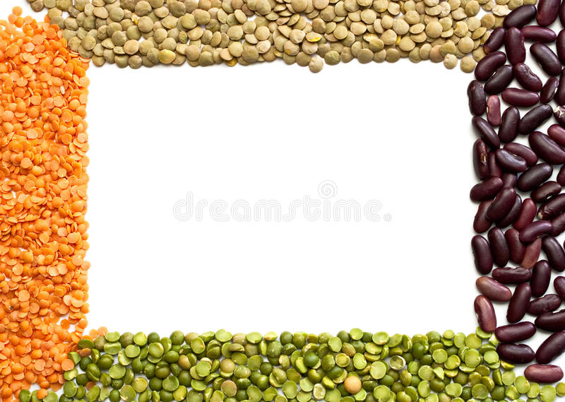 Download Frame dried beans stock photo. Image of cuisine, chickpea - 14331710