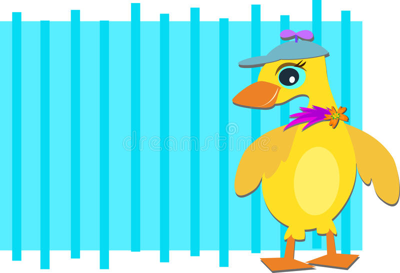 Frame Duck With Spinner Hat Stock Vector - Illustration of ...