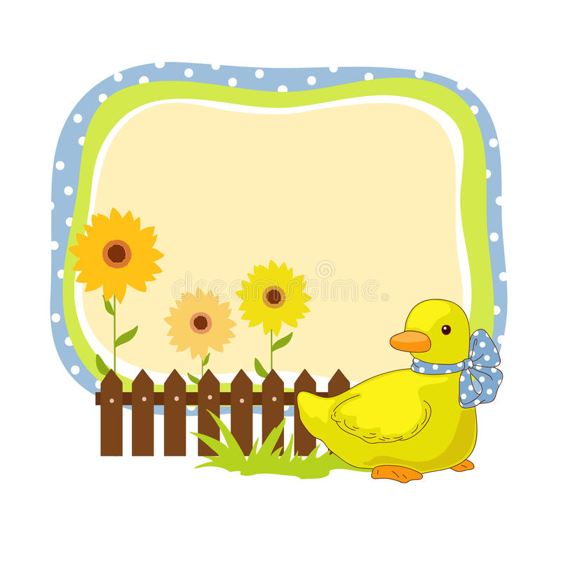 Frame with duck stock vector. Illustration of ecology - 33259126