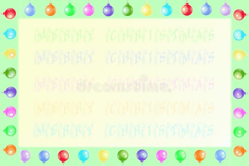 Frame e fundo do Natal ilustração do vetor