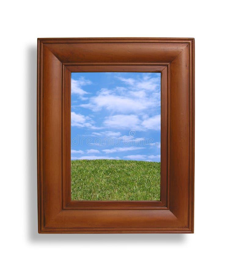 Frame e natureza de retrato imagens de stock