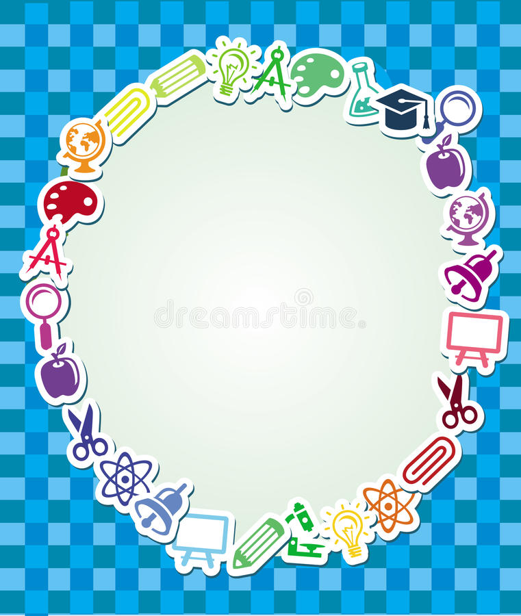 Download Frame With Education And Science Sticker Stock Vector - Image: 25486562