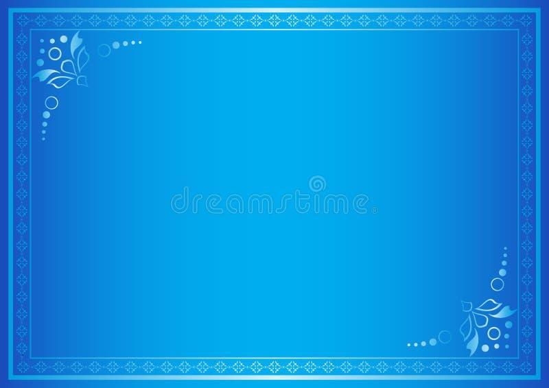 Frame elegante azul com inclinação ilustração royalty free