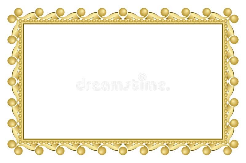 Frame elegante do ouro ilustração stock