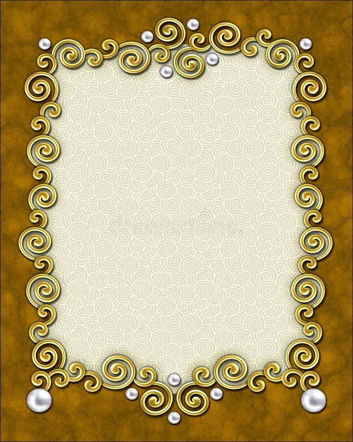 Frame elegante do redemoinho ilustração stock