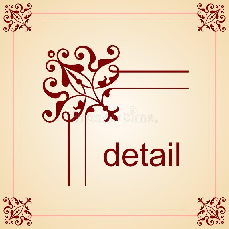 Frame elegante do vetor ilustração royalty free