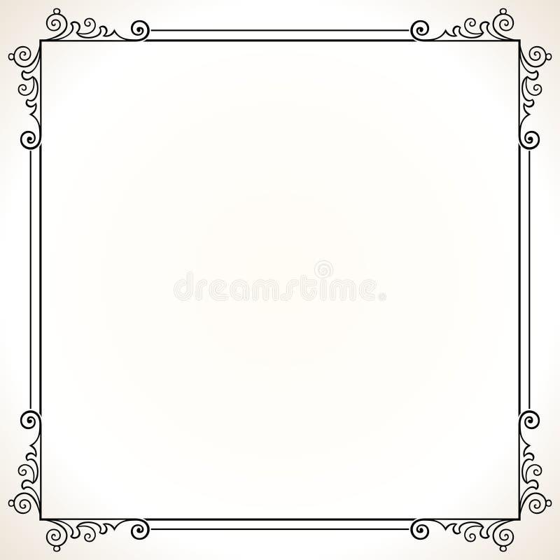 Frame elegante do vetor ilustração stock