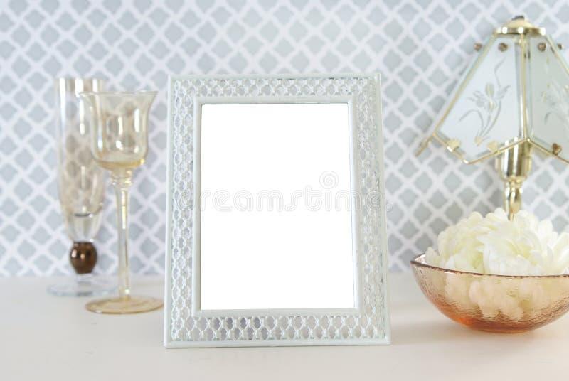 Frame em branco da foto fotografia de stock