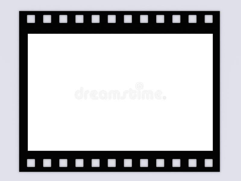 Frame em branco da tira da película de B&W ilustração stock