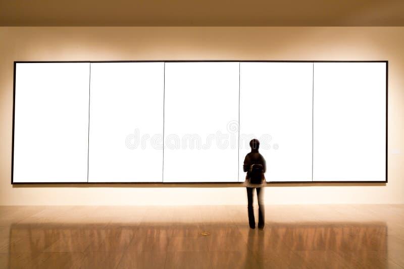 Frame em branco na galeria de arte imagens de stock royalty free
