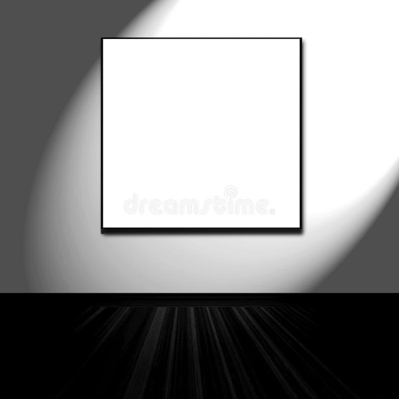 Frame em branco na parede ilustração do vetor
