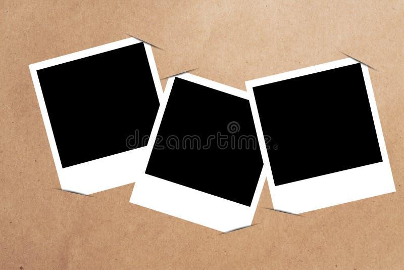 Frame em branco no papel ilustração stock
