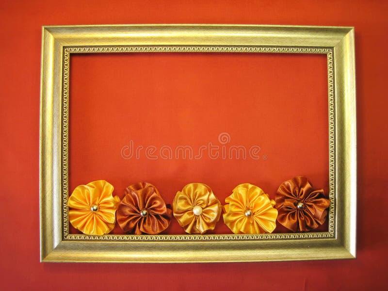 Frame en linten royalty-vrije stock foto