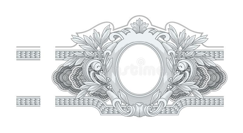 Frame Engraving. Vector illustration of Frame Engraving vector illustration