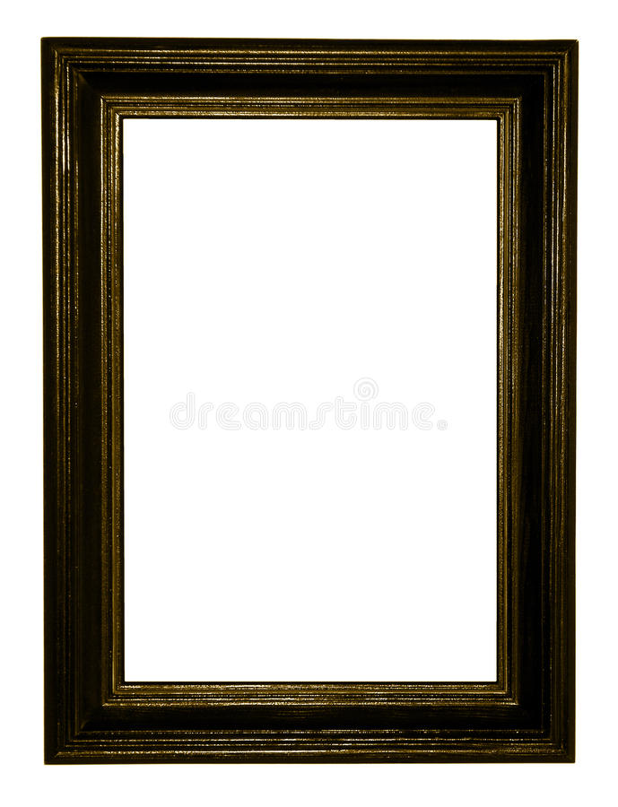 Frame escuro da antiguidade do ouro imagens de stock