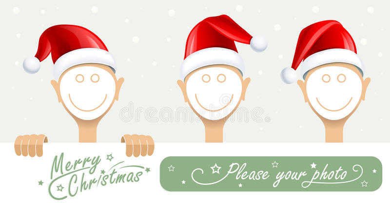 Download Frame for face stock vector. Illustration of happy, christmas - 27972455