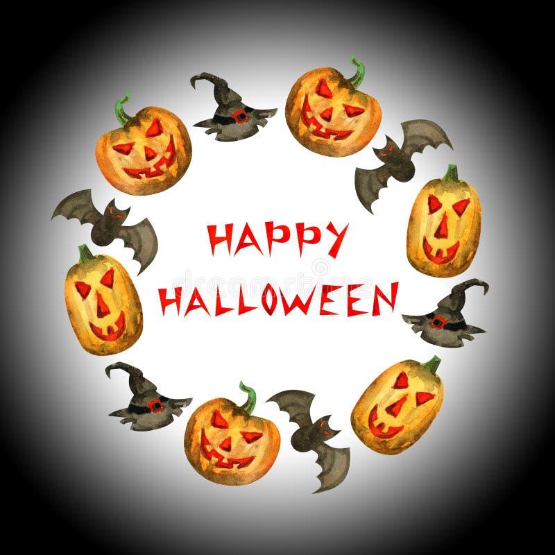 Frame feliz de Halloween ilustração do vetor