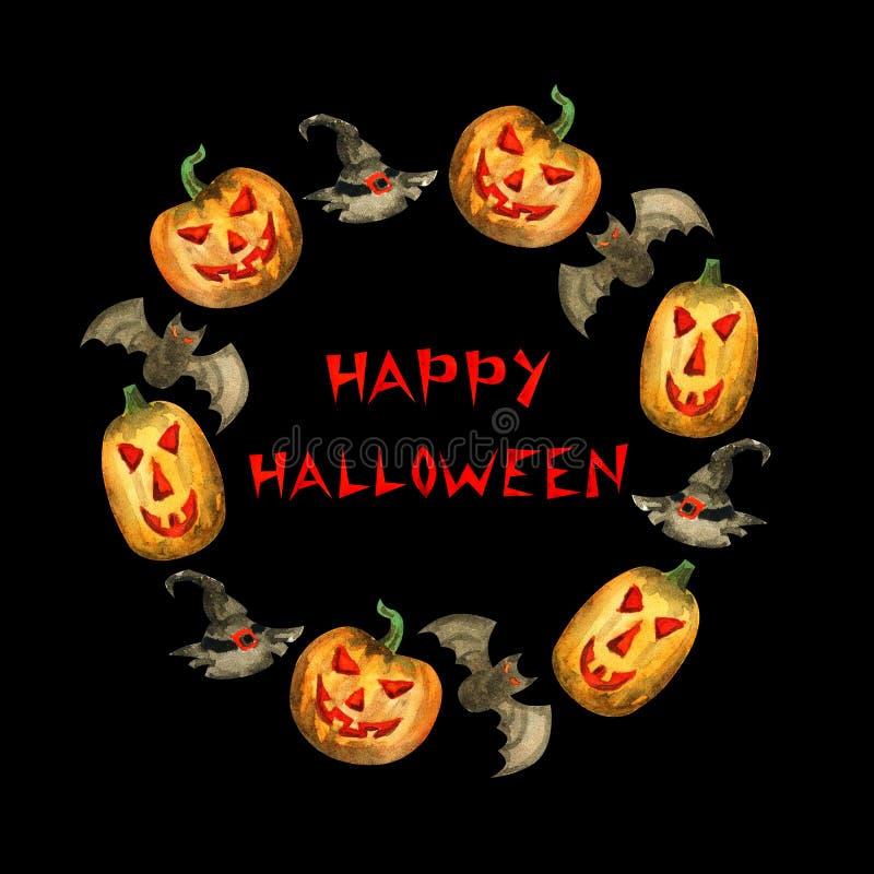 Frame feliz de Halloween ilustração royalty free