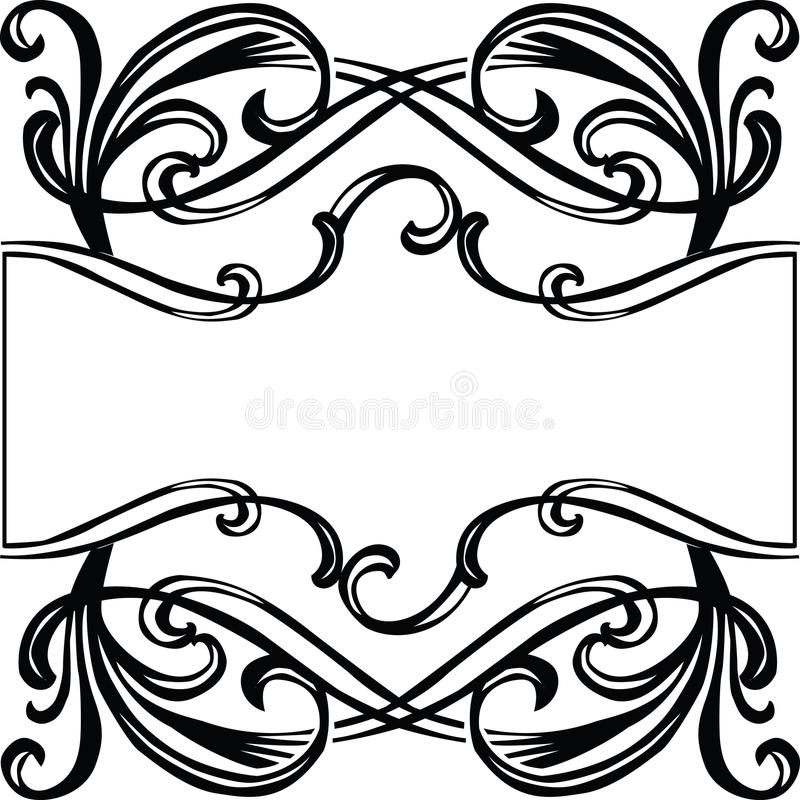 Frame With Filigree Ornament Stock Photography