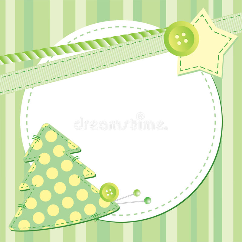 Frame with fir royalty free illustration