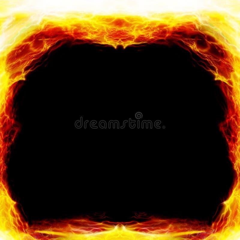 Frame on fire royalty free illustration