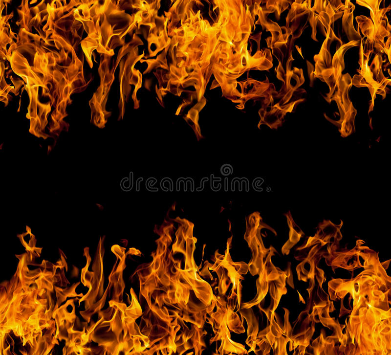 Frame of fire flames royalty free stock images