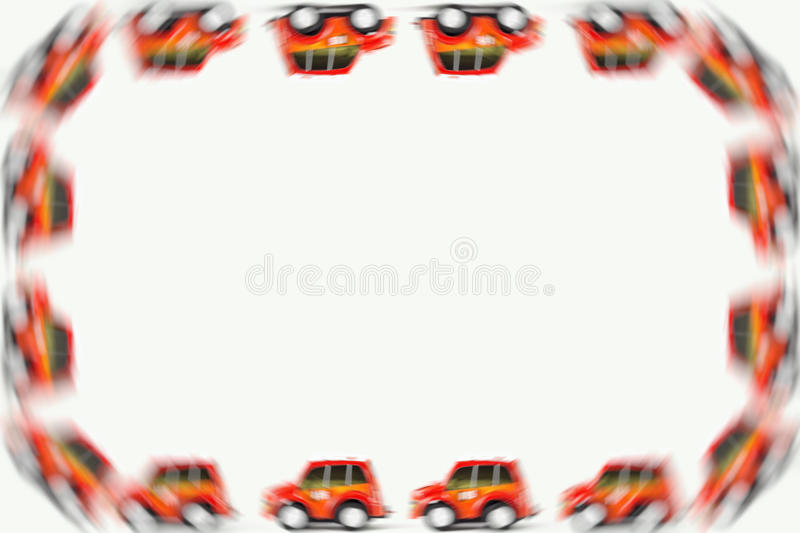 Frame of Fireman toys car royalty free stock images