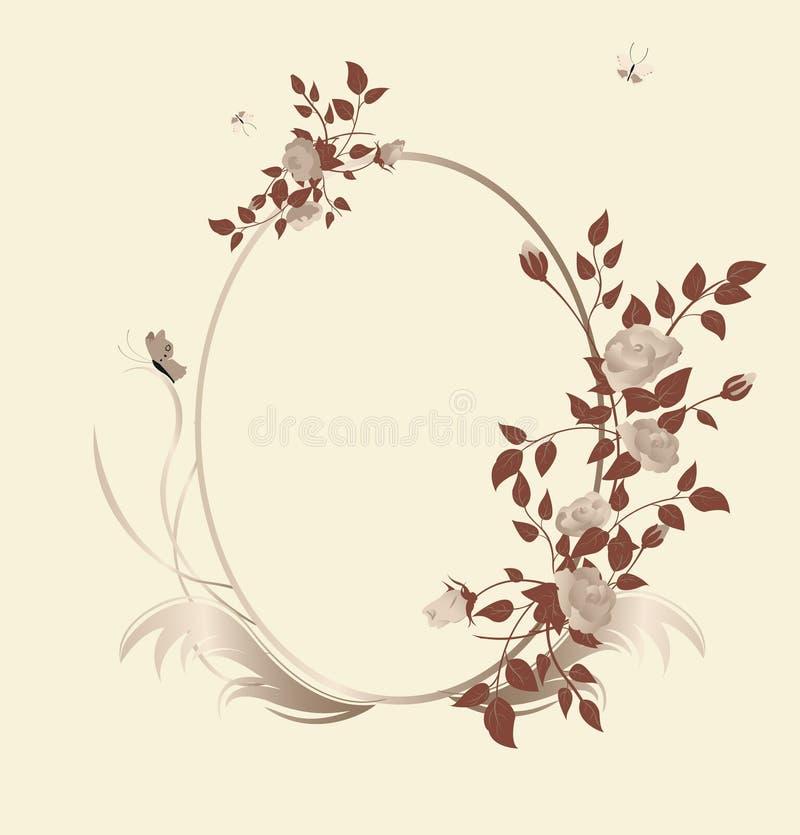 Frame floral ilustração royalty free