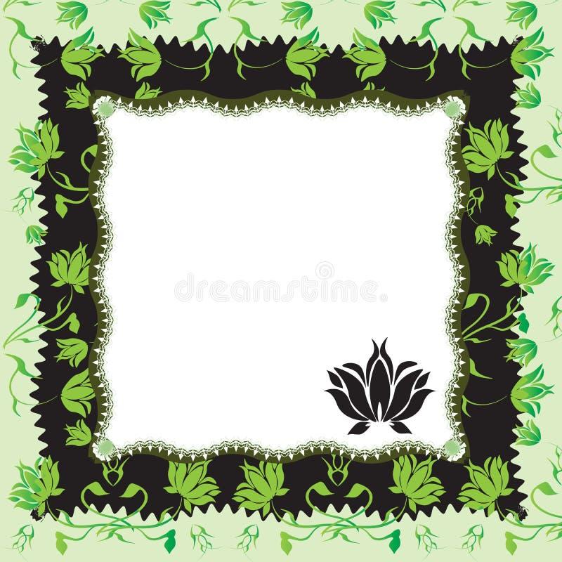 Frame floral ilustração do vetor