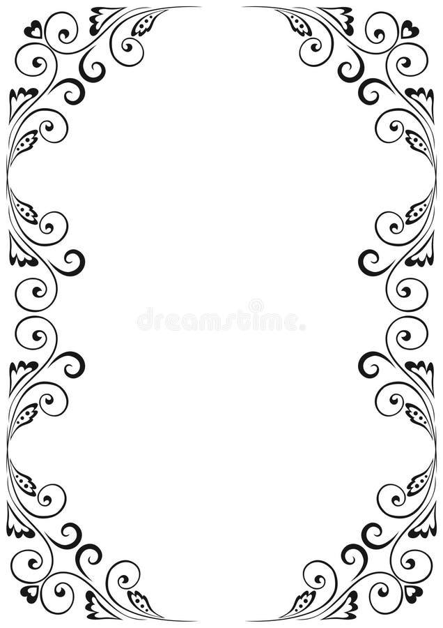 Frame floral ilustração stock