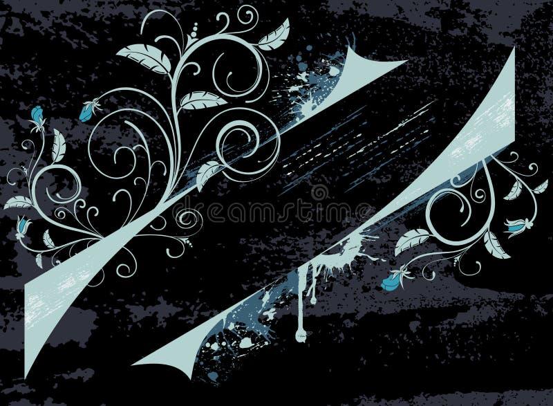 Frame floral abstrato ilustração stock