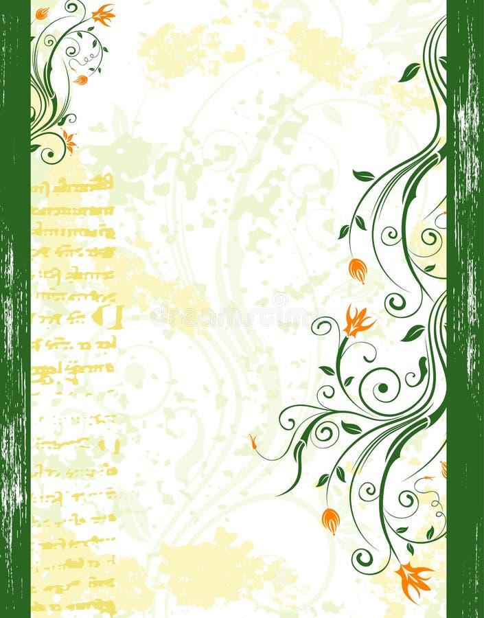 Frame floral abstrato ilustração do vetor