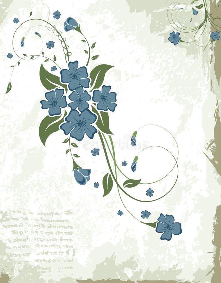 Frame floral abstrato ilustração royalty free