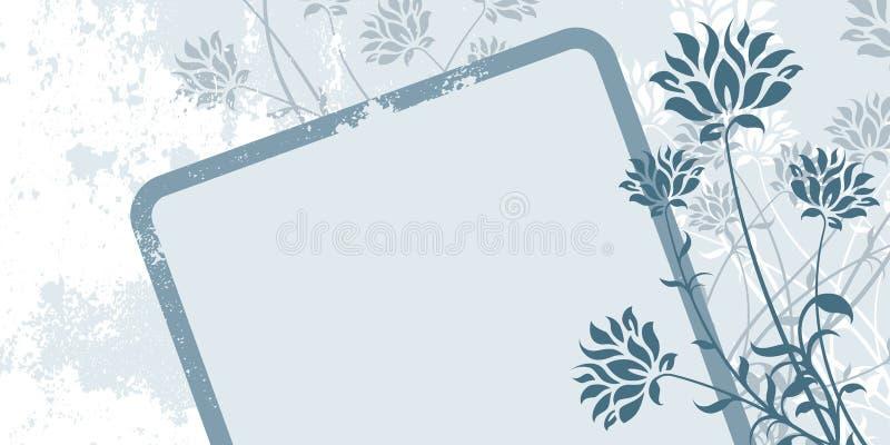 Frame floral abstrato de Grunge ilustração royalty free