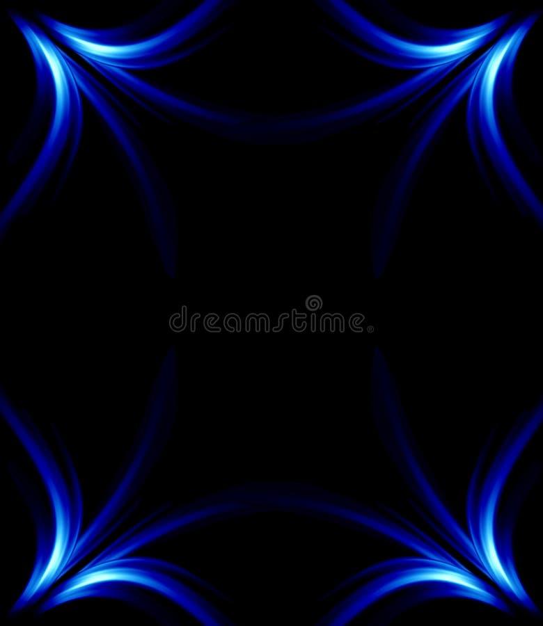 Frame floral azul ilustração royalty free