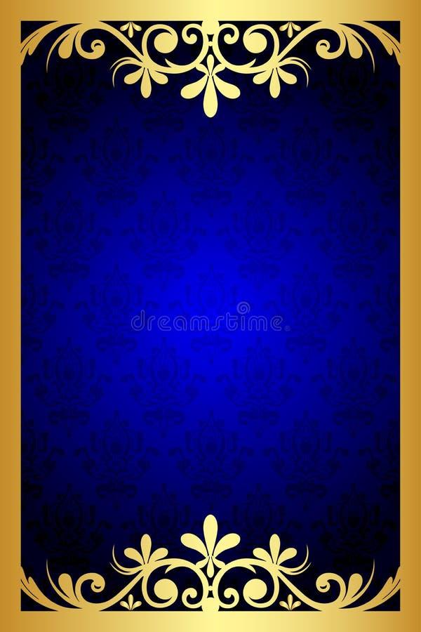 Frame floral azul ilustração do vetor