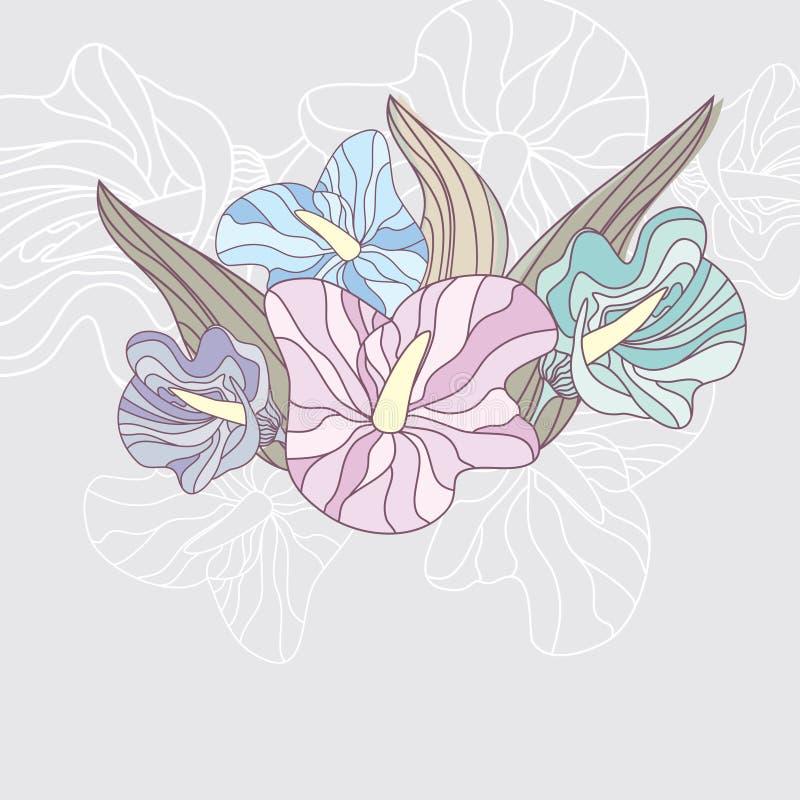 Frame floral bonito ilustração do vetor
