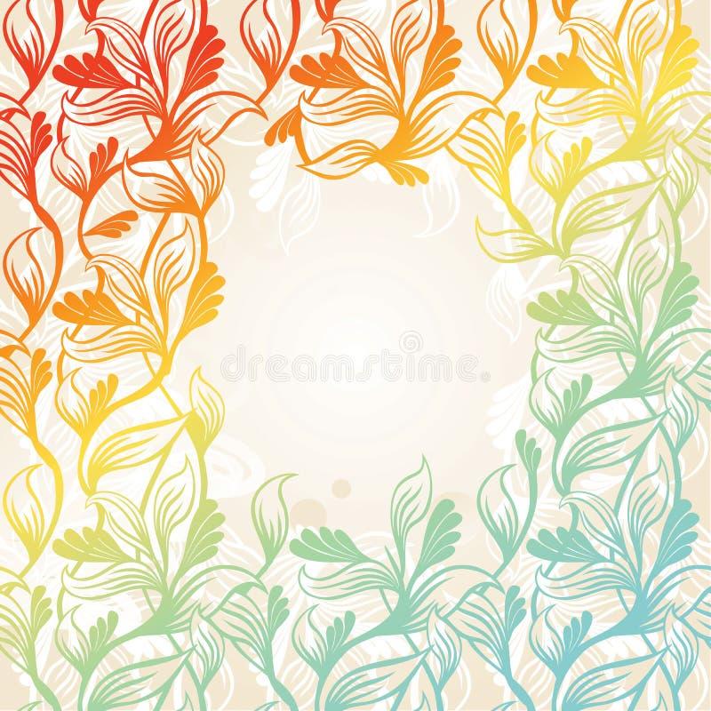 Frame floral colorido ilustração royalty free