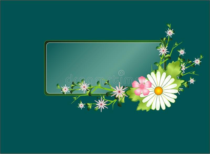 Frame floral com camomila ilustração stock