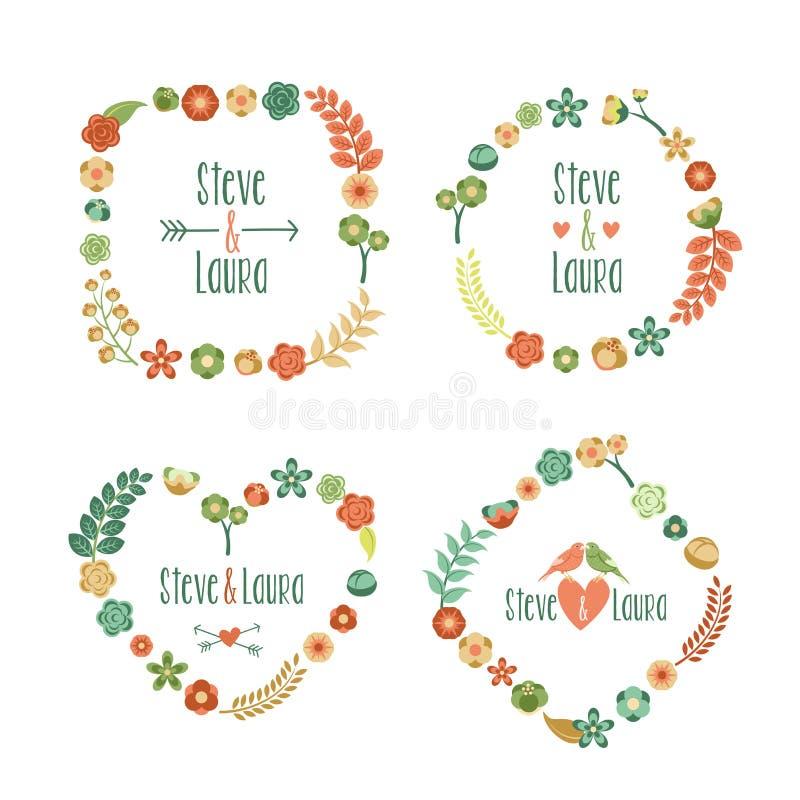 Frame floral com lugar para seu texto ilustração stock