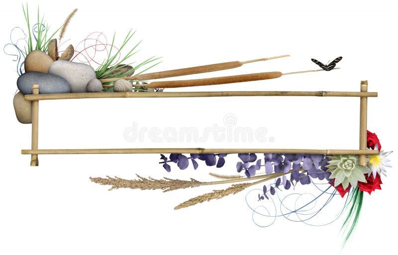 Frame floral da bandeira ilustração do vetor