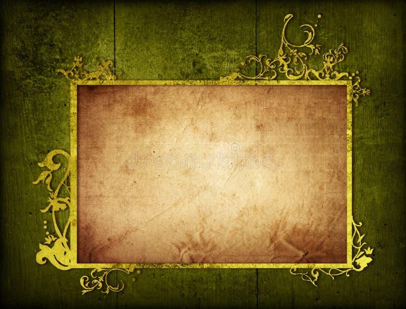 Frame floral das texturas e dos fundos do estilo ilustração royalty free