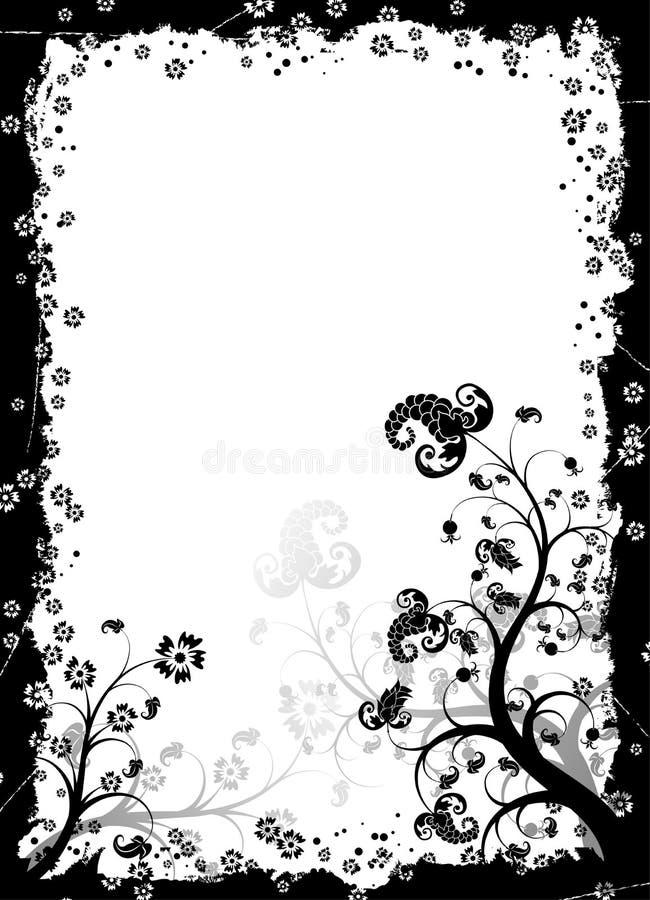 Frame floral de Grunge, vetor ilustração stock