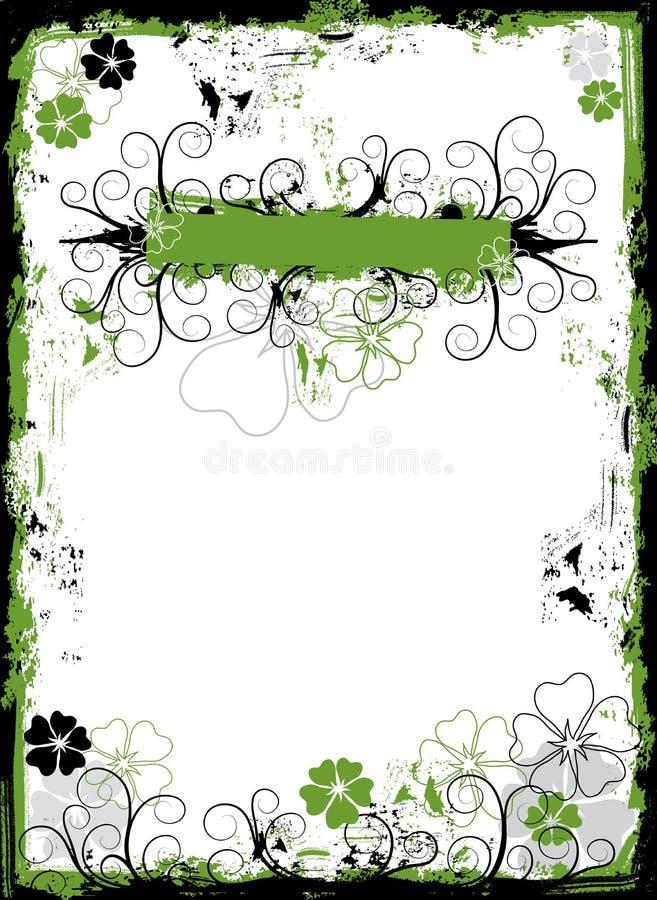 Frame floral de Grunge, vetor ilustração royalty free