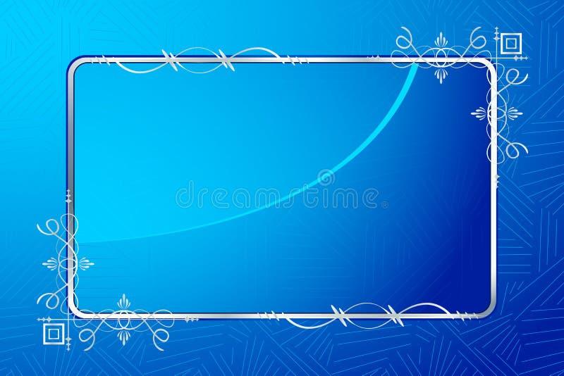 Frame floral de vidro ilustração royalty free