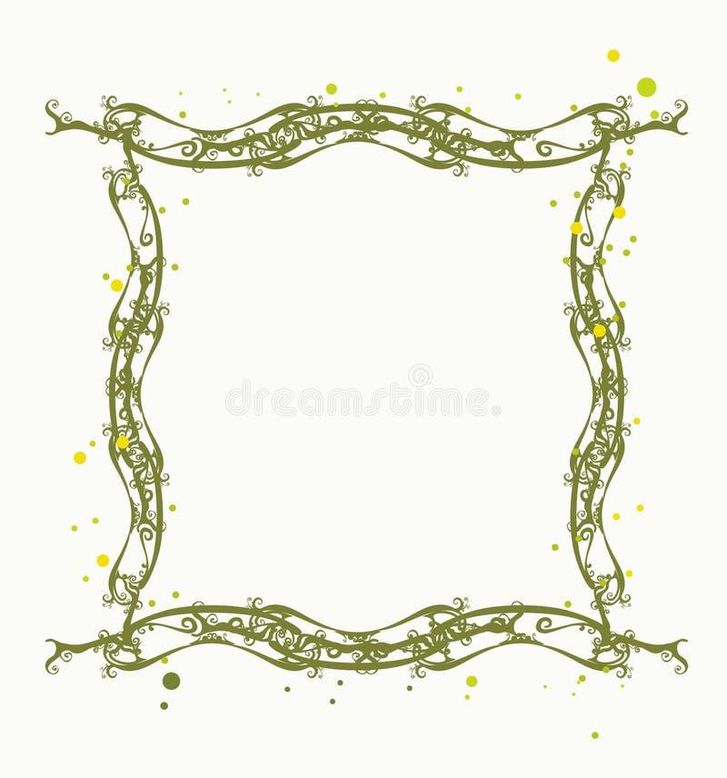 Frame floral decorativo ilustração royalty free